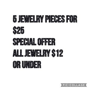💯💯 Jewelry 5 for $25 💯💯